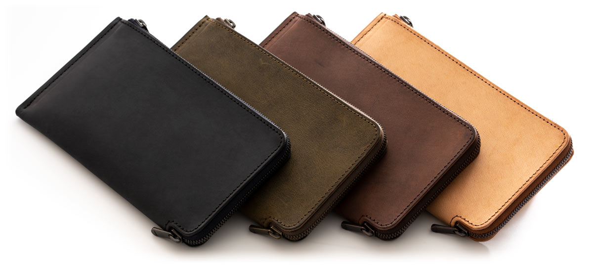 HITOE long wallet color lineup