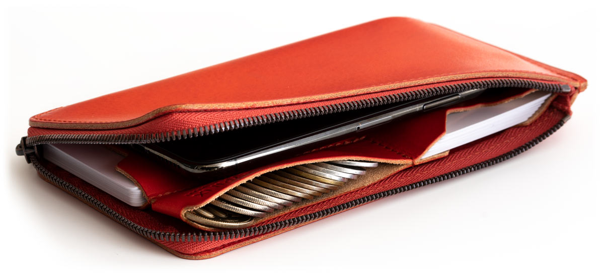 A wallet that goes into a smartphone