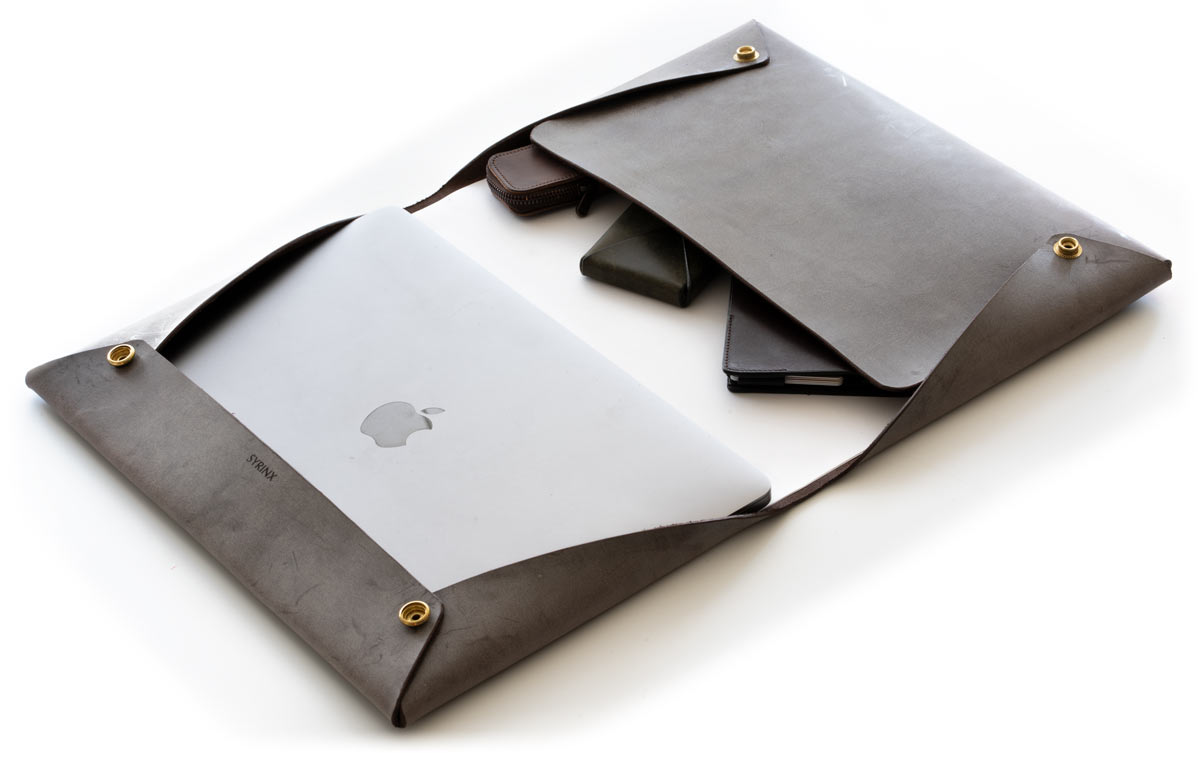 Single leather document case