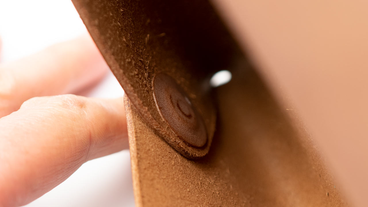 Backing inside leather document case